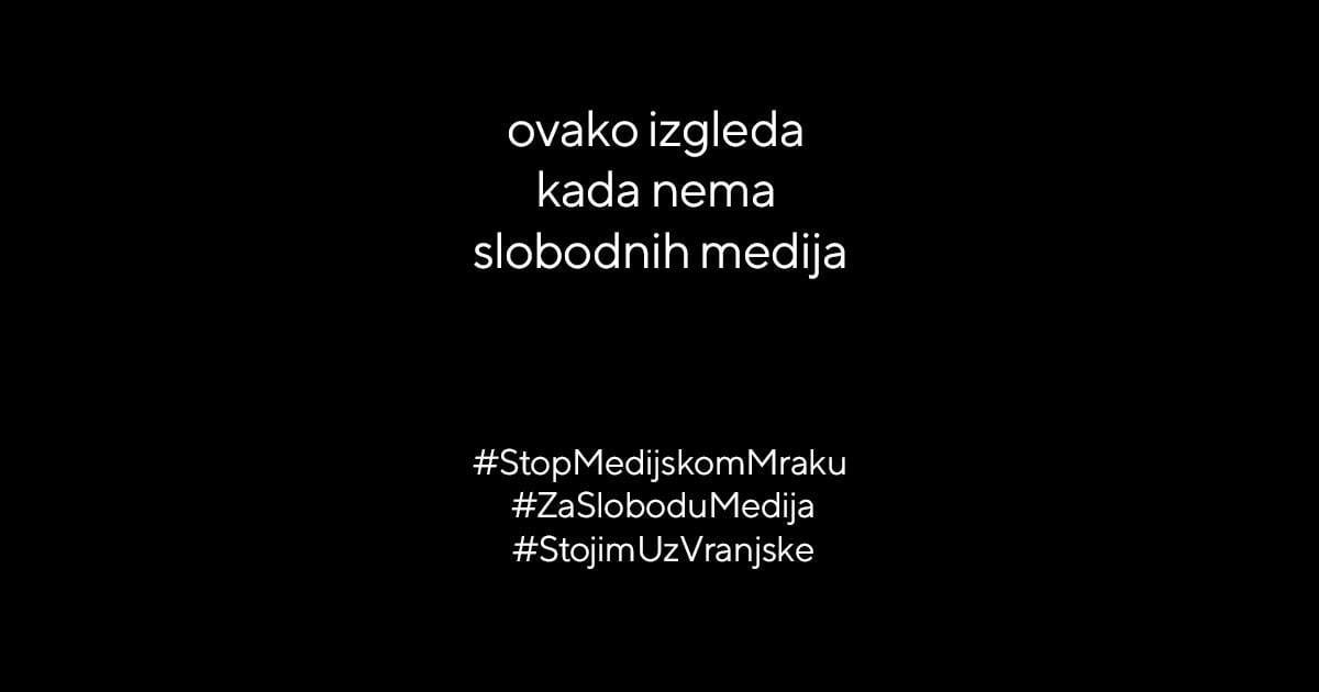 PROTESTNA AKCIJA: ZAMRAČENJE MEDIJA I DRUŠTVENIH MREŽA U SRBIJI DANAS U PODNE