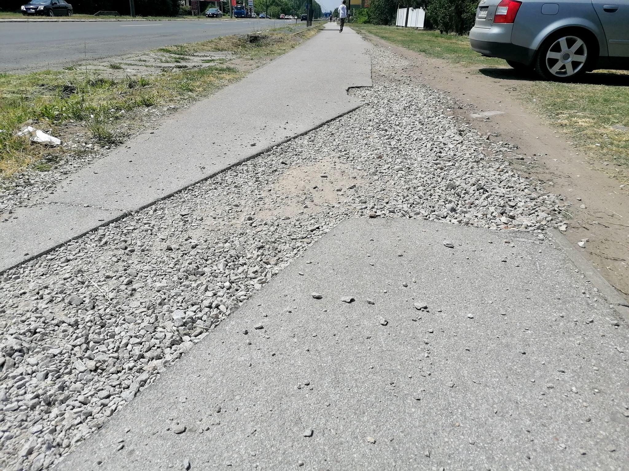 Palić: Rupe na stazi otežavaju vožnju bicikala i rolera (Foto)