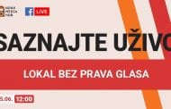 Onlajn emisija NDNV-a: Lokal bez prava glasa